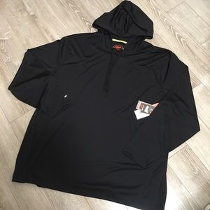 Foundry Supply Co Quick Dri Fit Hoodie 2XL NWT blk